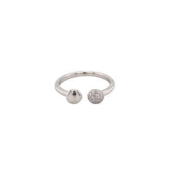 Brillant Ring Pavé 0,10ct Weißgold