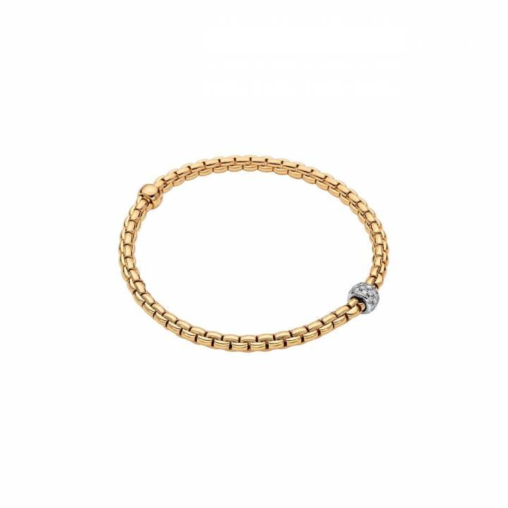 Fope Armband Eka Tiny 733B Pave Gelbgold