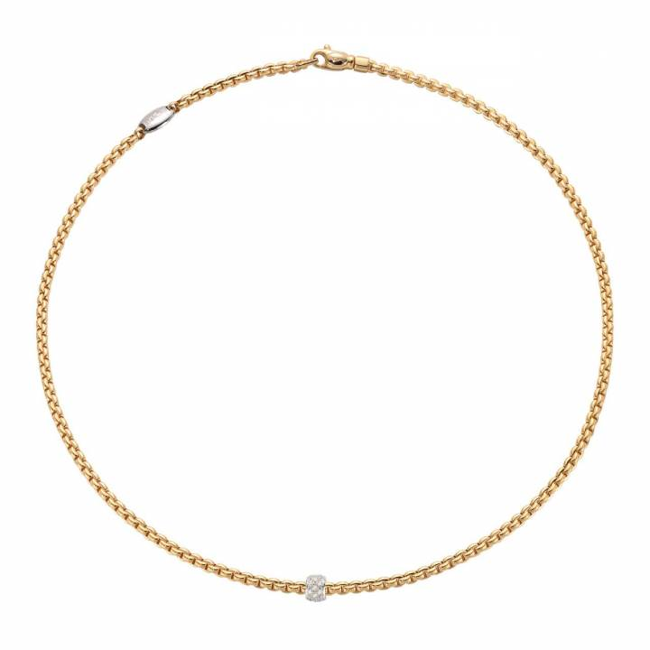 Fope Collier Eka 730C PAVE Gelbgold