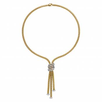 Fope Y-Collier Solo Mialuce 651C PAVE Gelbgold