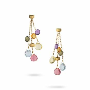 MARCO BICEGO Ohrstecker lang Paradise 18kt Gelbgold mit multicolor Edelsteinen (OB915 MIX01)