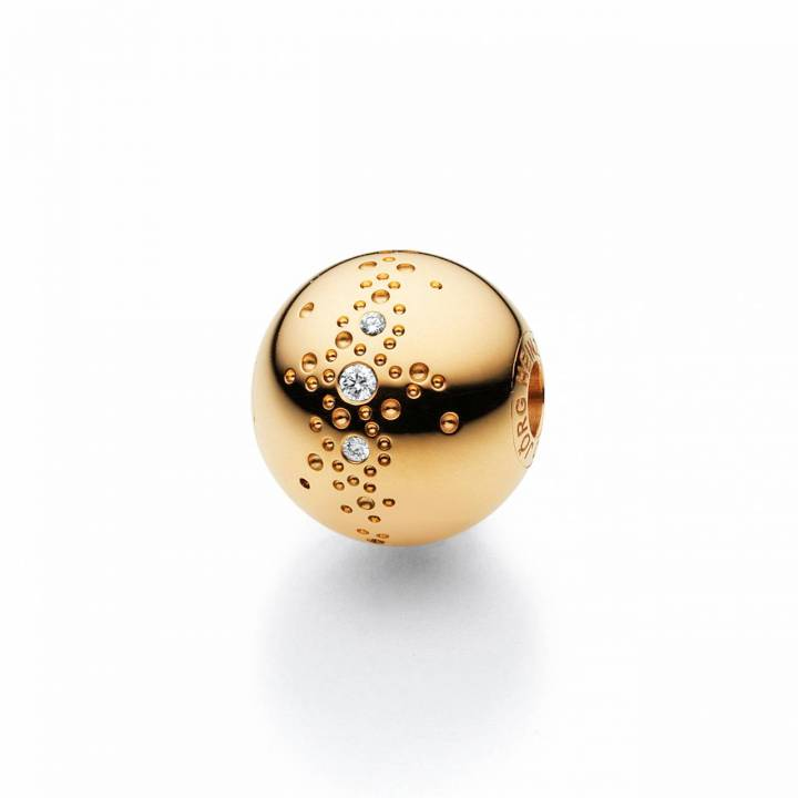 Perlschließe 11mm mit Sternenhimmel Gelbgold