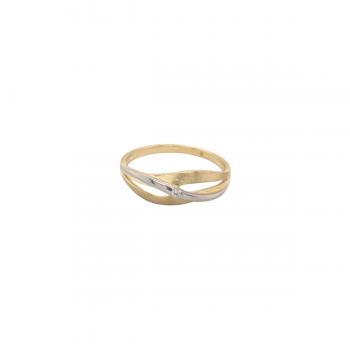 Ring Brillant 0,02ct Gelbgold