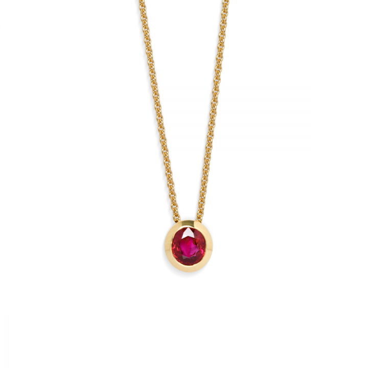 Rubin Collier oval 1,02ct Gelbgold