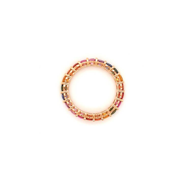 Saphir Regenbogen Ring Rotgold 2