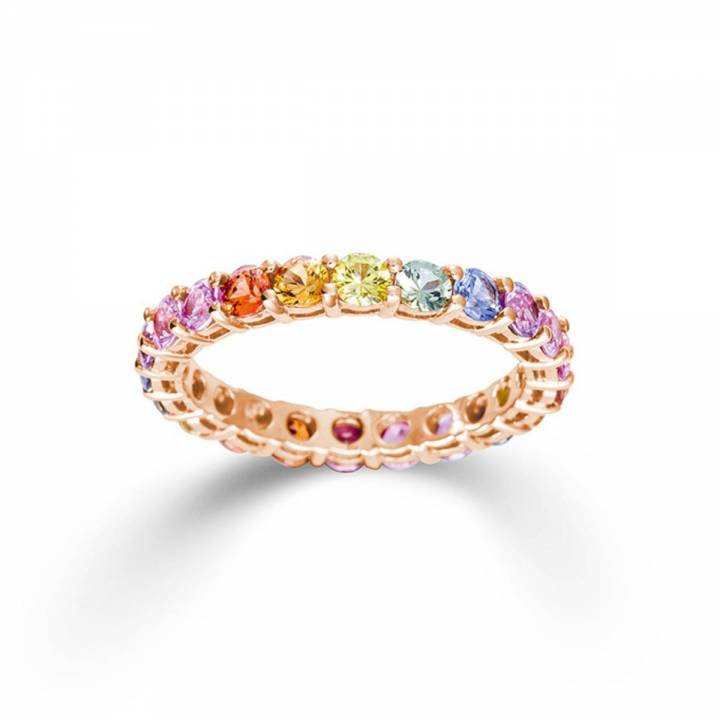 Saphir multicolor Ring Rotgold