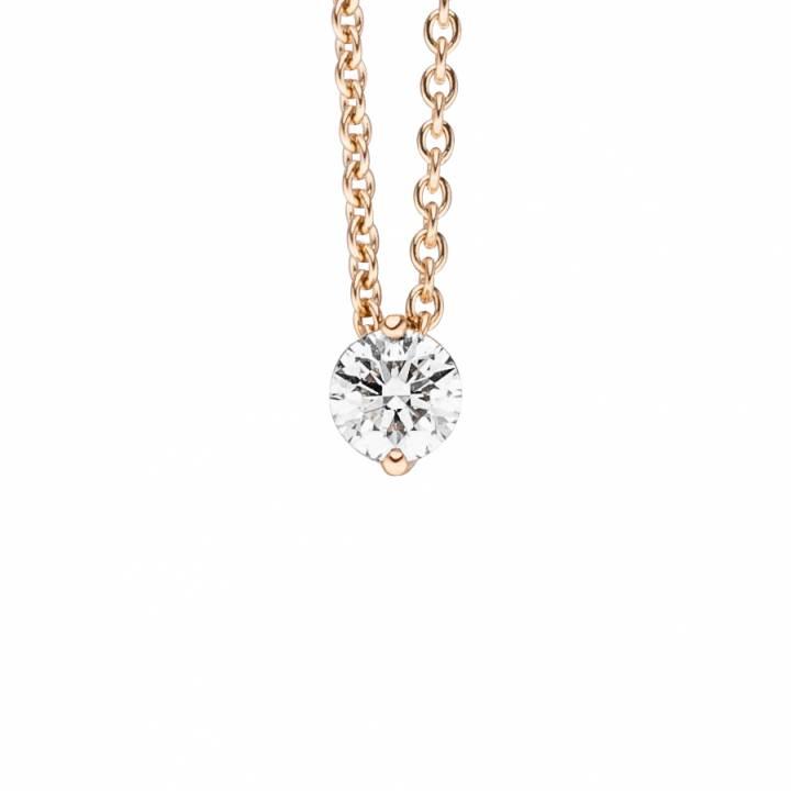 Brillant Collier 0,21ct Rosègold