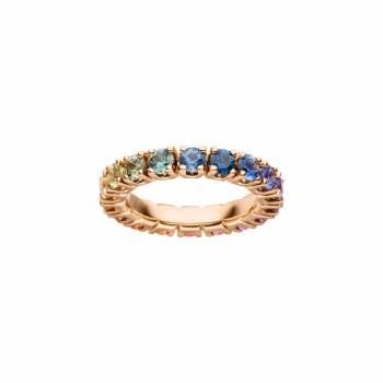 Saphir Ring Regenbogen Roségold