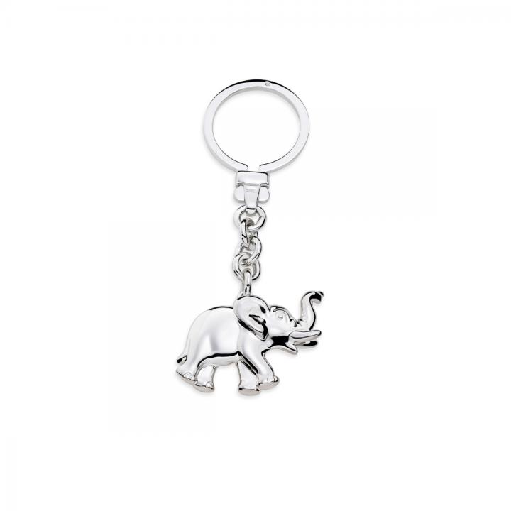 Schlüsselanhänger Elefant Silber