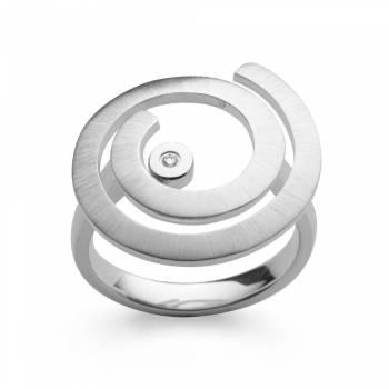 Bastian Ring Silber mit Diamant 38590
