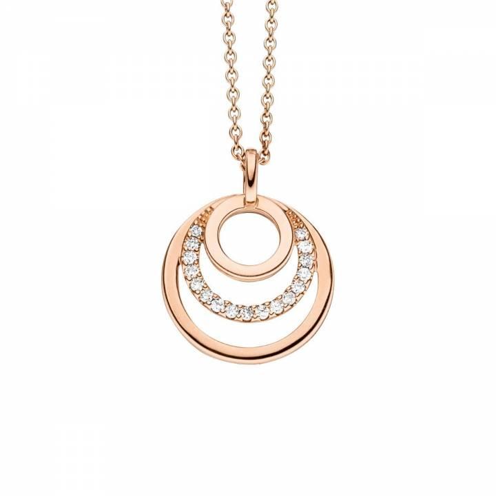Brillant Collier Kreis 0,12ct Roségold
