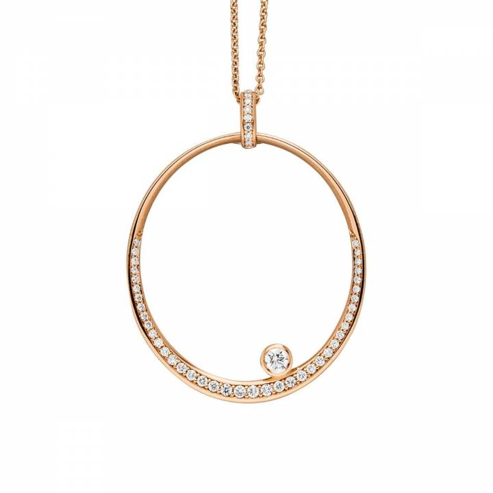 Brillant Collier oval 0,36ct Roségold