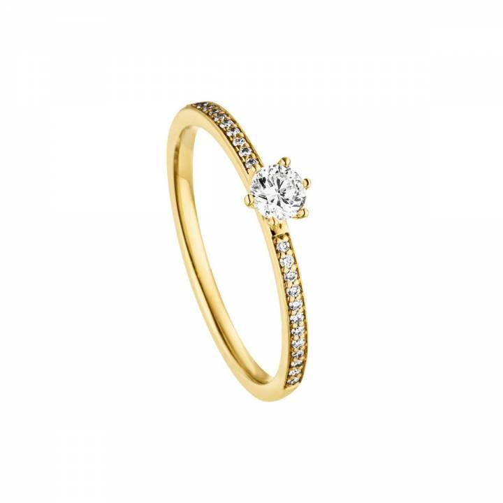 Brillant Ring 0,25ct Gelbgold