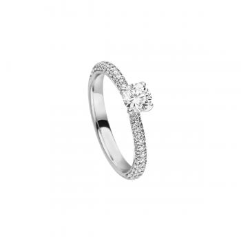 Brillant Ring 0,43ct Weißgold