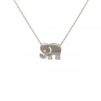 Elefant Anhänger mit Brillant Weißgold