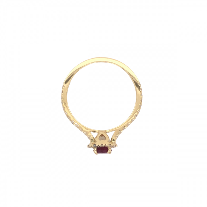Rubin Brillant Ring Gelbgold (2)