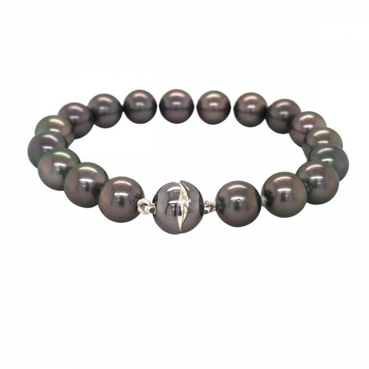 Tahiti Perlarmband Silber