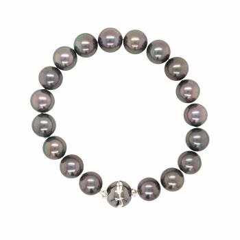 Tahiti Perlarmband Silber1