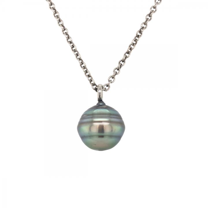 Tahitiperlen Collier lang Silber