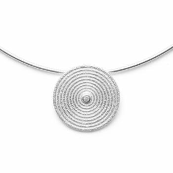 Bastian Anhänger gebürstet mit Diamant Silber 39500