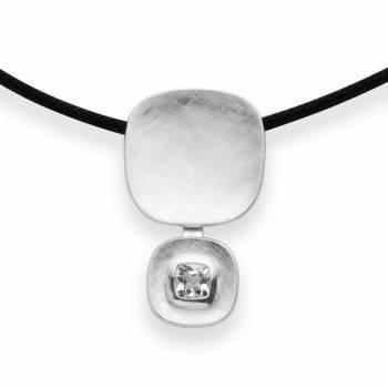 Bastian Anhänger weißer Topas Silber 38740