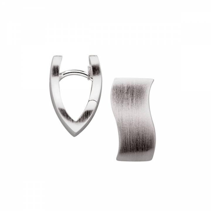 Bastian Creolen Silber geschwungen 350125001