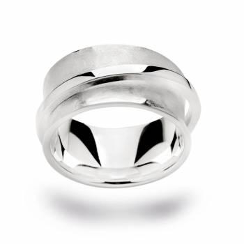 Bastian Ring poliert/mattiert Silber 21250