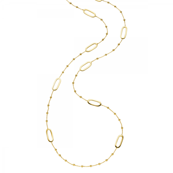 Collier lang Gelbgold