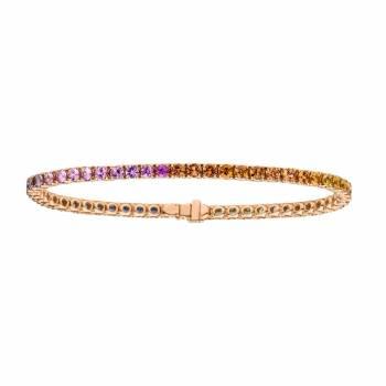 Saphir Armband multicolor Roségold